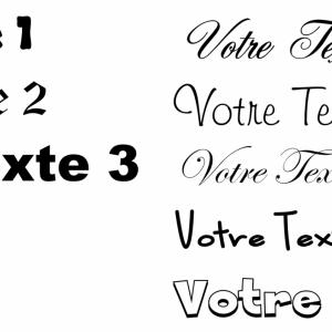 Choix texte site