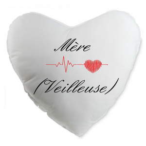 Coussin coeur mere veilleuse
