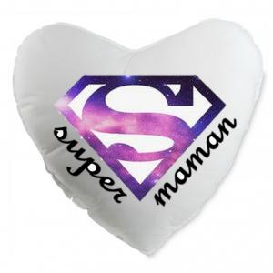 Coussin coeur super woman