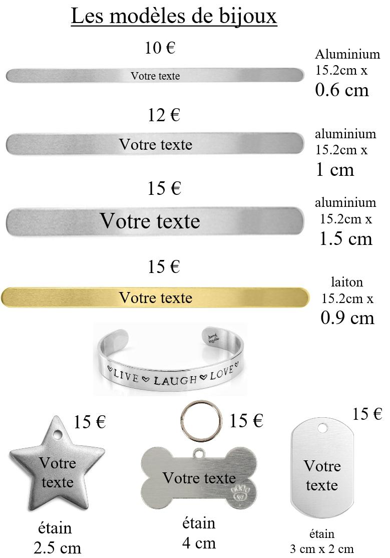 Mod7les bijoux