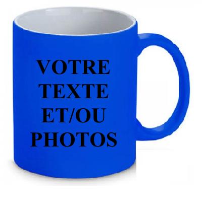 Mug bleu fluo