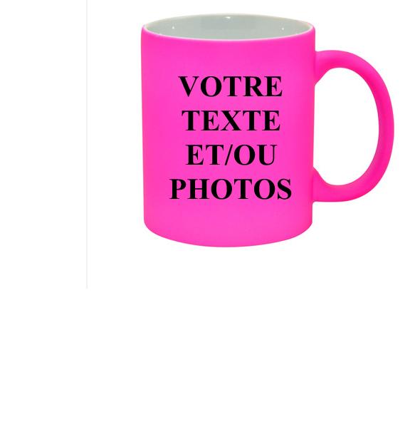 Mug rose fluo