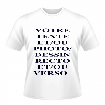 tee shirt blanc mixte