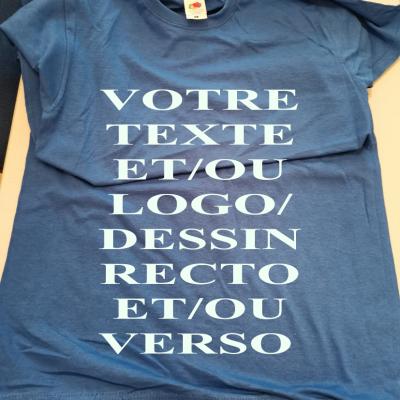 Tee shirt bleu mixte