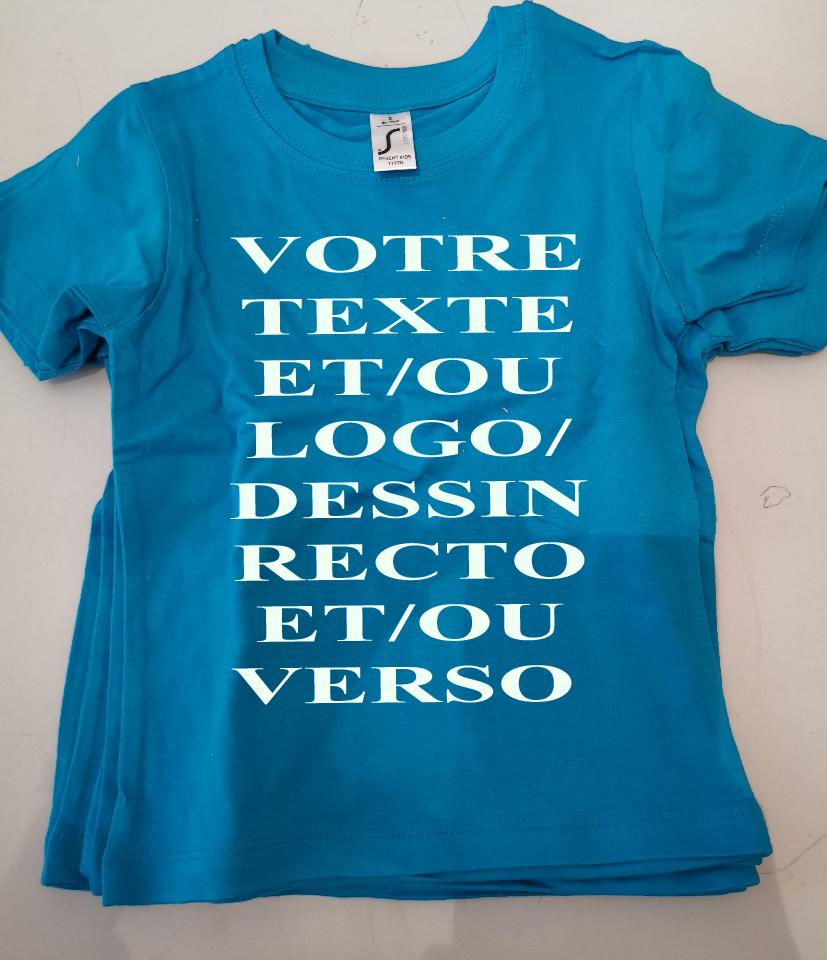 Tee shirt enfants bleu