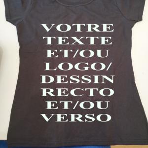 Tee shirt noir femme